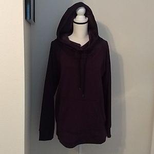 Active Life Open Hoodie Sweater Fleeced Purple XL